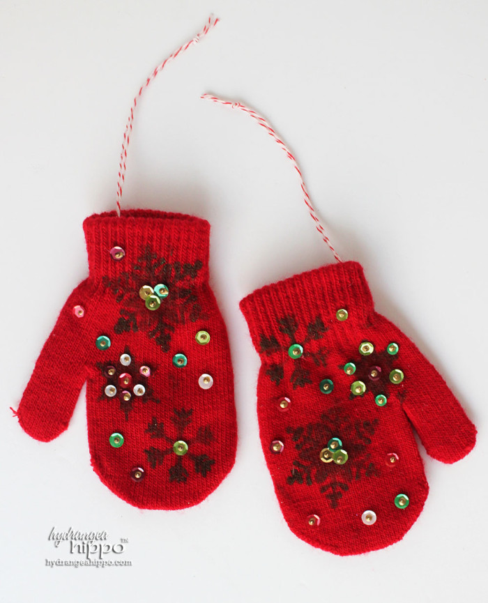 Mitten Ornaments by Jennifer Priest for hydrangeahippo