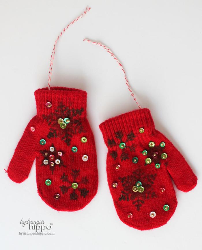 Mitten Ornaments by Jennifer Priest for hydrangeahippo