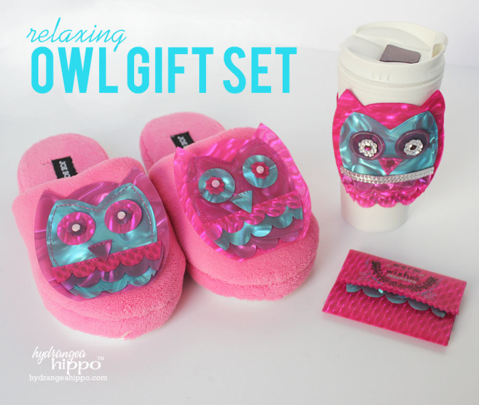 Relaxing Owl Gift set by Hydrangeahippo Jennifer Priest Handmade Holidays 2014 Blog Hop