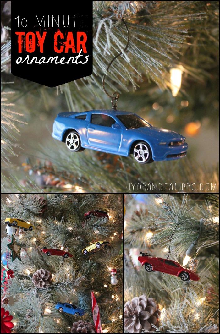10 Minute Toy Car Ornaments by Jennifer Priest hydrangeahippo