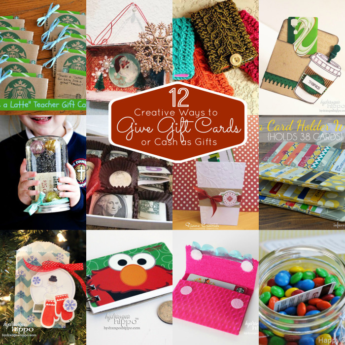 12 Creative Ways To Give Gift Cards COLLAGE