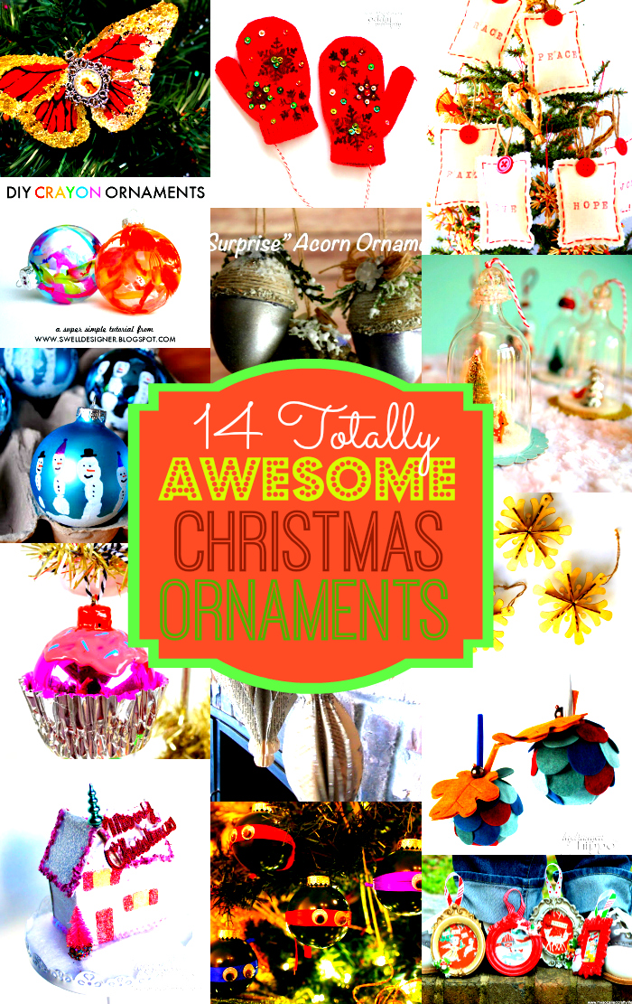 14 Totally Awesome DIY Ornaments Collage