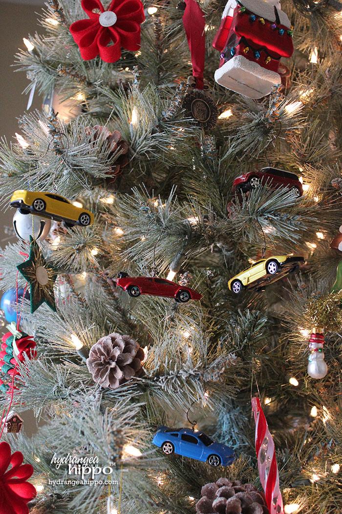 2014-12 Boy Ornaments - Muscle Cars by Jennifer Priest hydrangeahippo