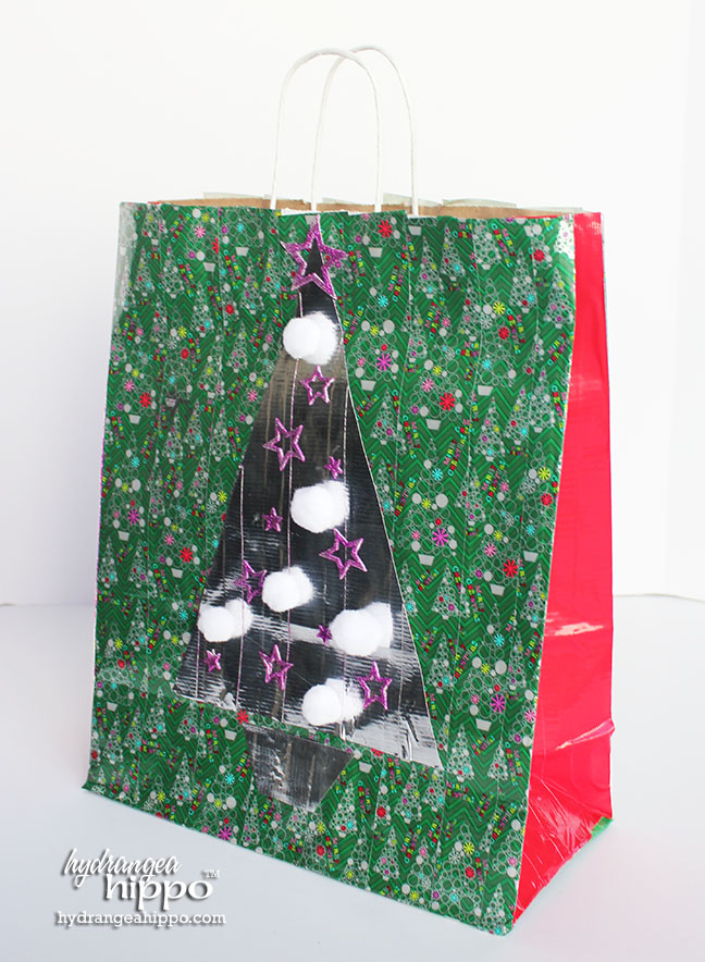 2014-12 Duck Tape Gift Bag with Christmas Tree by Jennifer Priest of hydrangeahippo