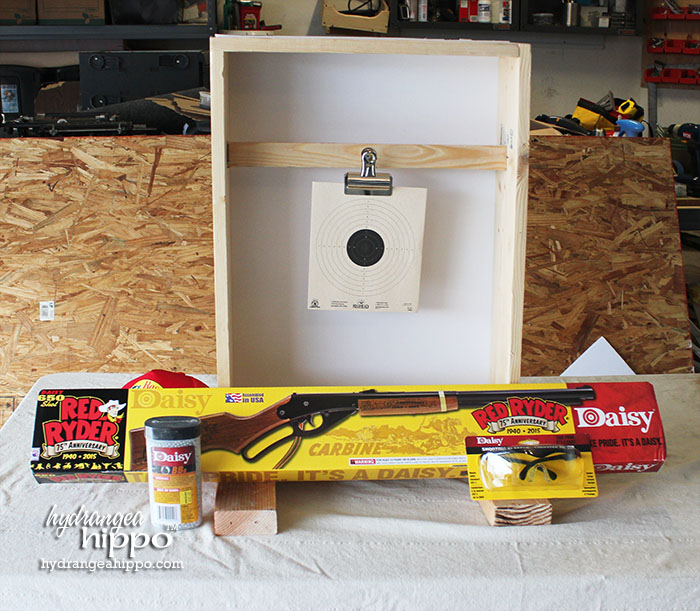 2014-12 Get a Daisy BB Gun at Bass Pro Shop - Finished Target 0 - by Jennifer Priest of Hydrangea Hippo