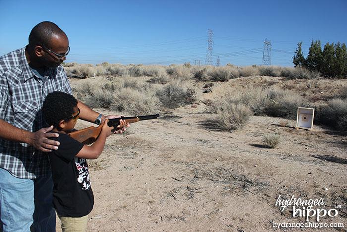 2014-12 Get a Daisy BB Gun at Bass Pro Shop - Qamar and Xaver Shooting - by Jennifer Priest of Hydrangea Hippo