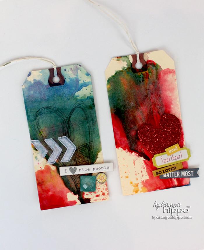 2015-01 Izink Tags Using Stash - Making Matters Week 1 by Jennifer Priest hydrangeahippo 2