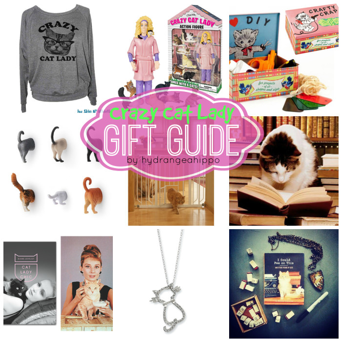 9 Crazy Cat Lady Gifts by Jennifer Priest hydrangeahippo COLLAGE