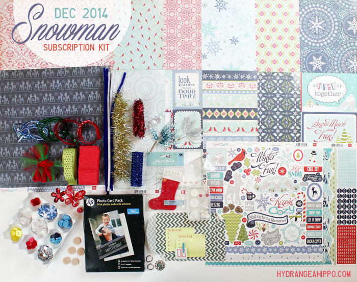 DEC 2014 - SNOWMAN Monthkly Kit Club
