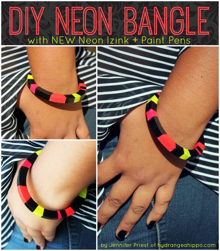 DIY Neon Bracelet with IZINK by Jennifer Priest COLLAGE 1