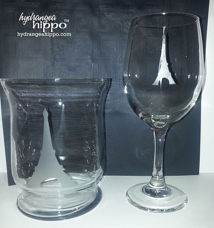 Etched Wine Glass and Candle Holder Make N Take Seaside Soiree Charity Wings with Etchall