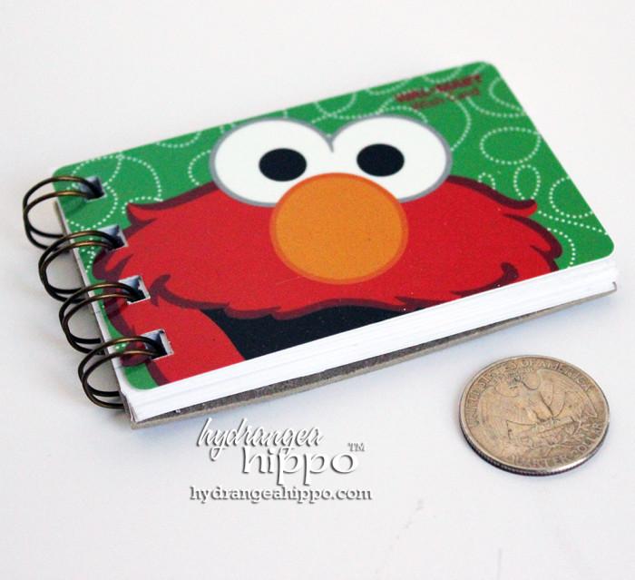 Gift-Card-Mini-Book-In-Bag-Hydrangea-Hippo-Handmade-Notebook6