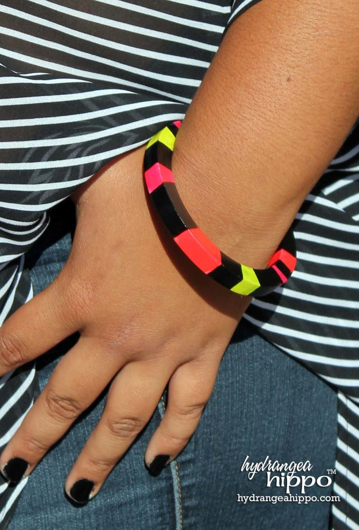 Neon Bracelet made with Izink by Jennifer Priest 5