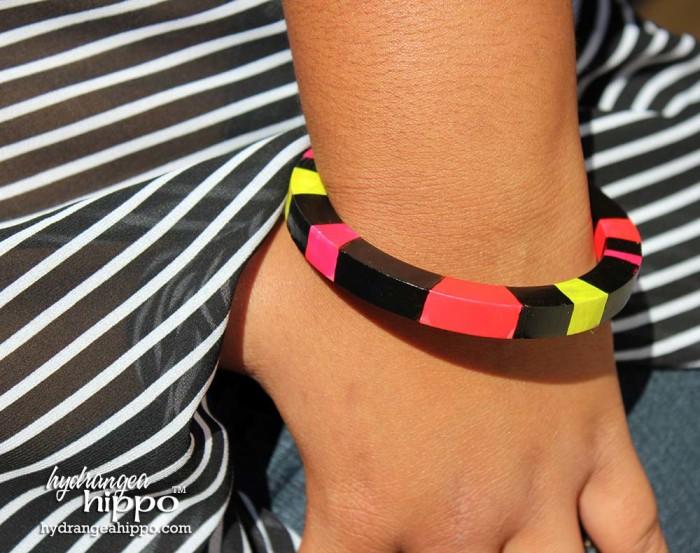 Neon Bracelet made with Izink by Jennifer Priest 6