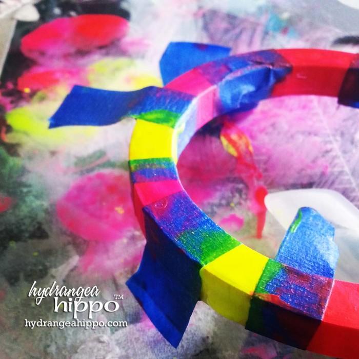 Neon Bracelet made with Izink by Jennifer Priest