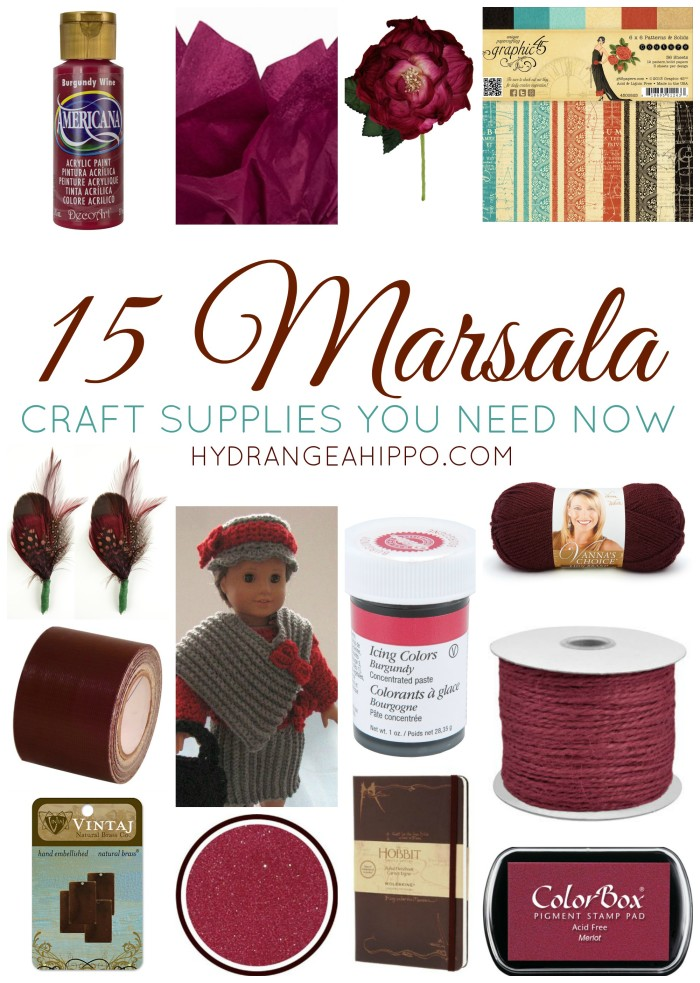 15 Marsala Crafts Supplies You Need Now - hydrangeahippo