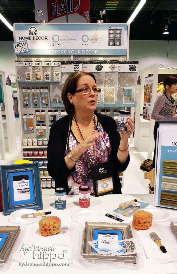 Donna Dewberry shares abotu her stencil line with PLAID as well as some tips on refinishing furniture with stencils.