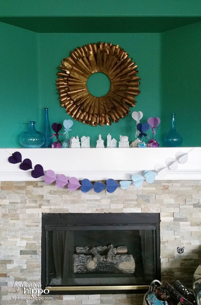 My decorated mantle. Thanks for inspiring me to do this!!