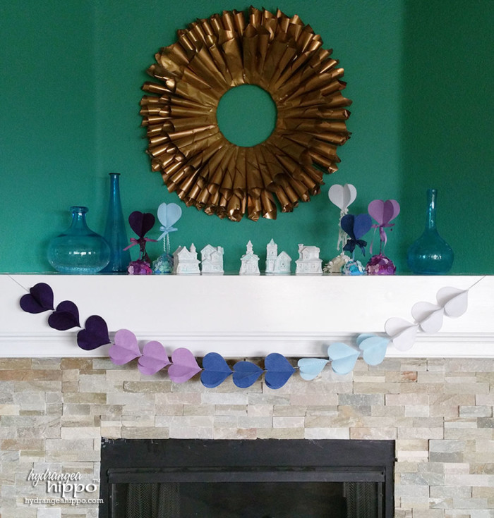 Create this fun 3D felt garland for your mantle in about 45 minutes.