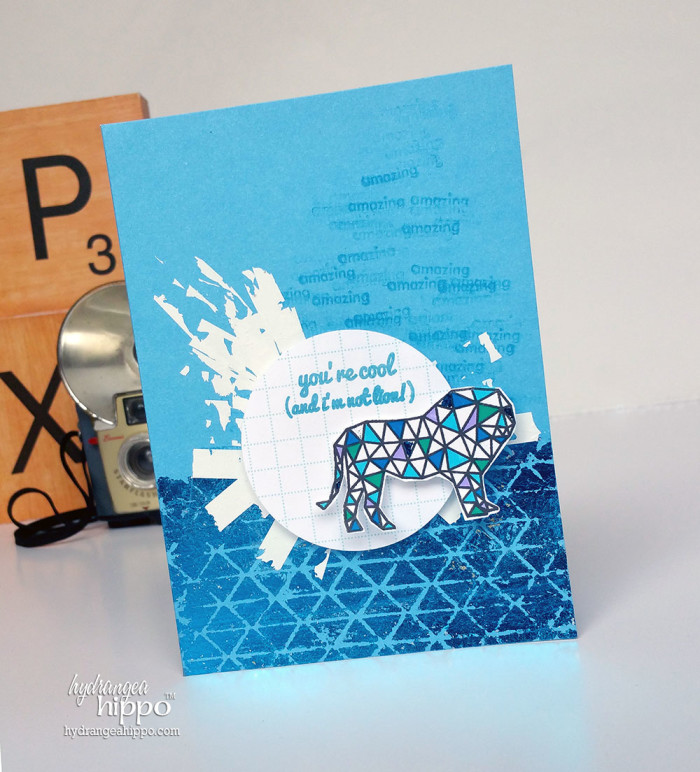 It does help this card that I used a super amazing Stencil1 stencil by Ed Roth. Cuz Ed is cool like that.