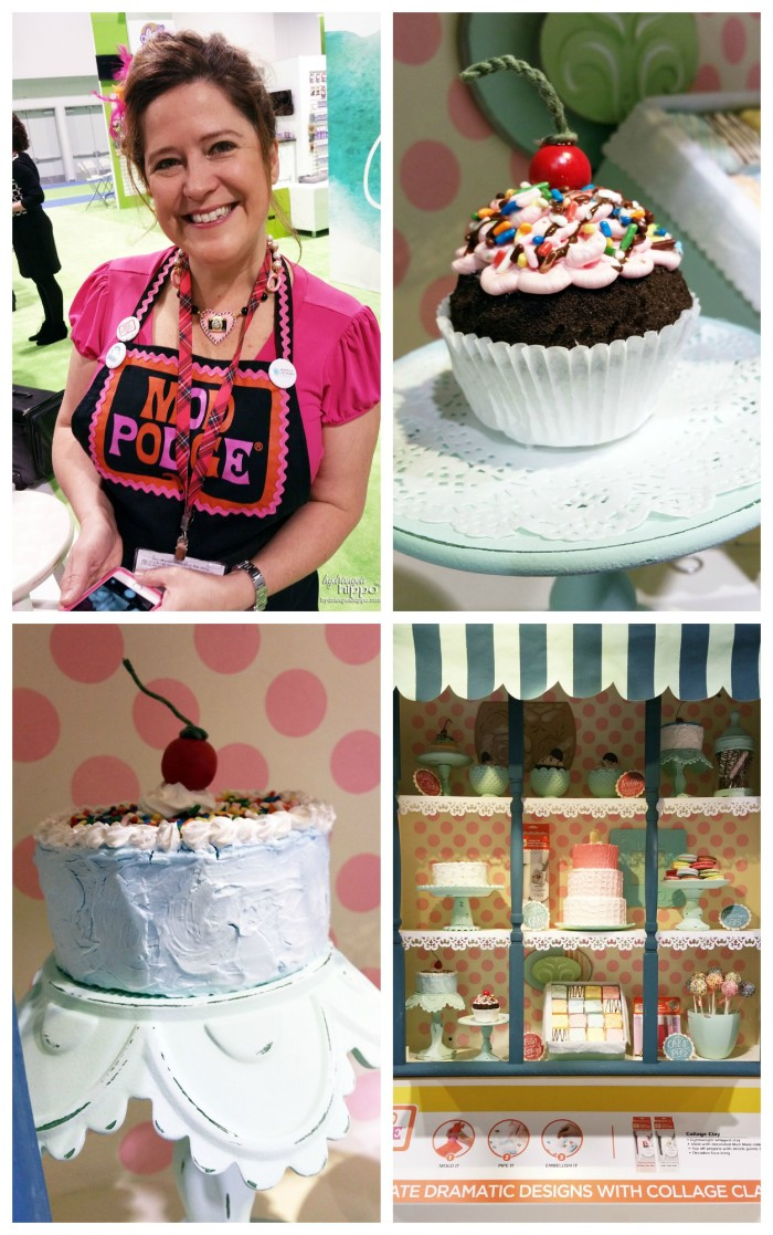 Sweets in the Plaid booth created with Collage Clay