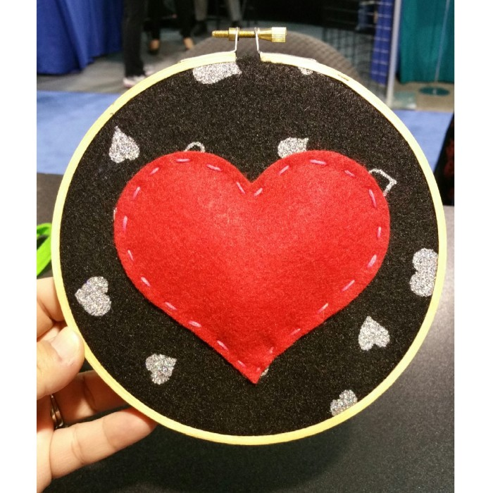 My embroidery hoop felt make n take at Kunin Group Felt.