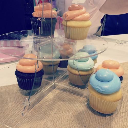 Deflecto Cupcake Stand- photo by Nancy Nally
