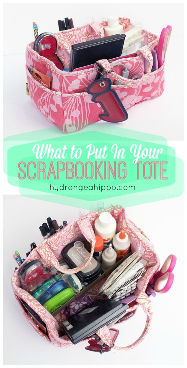What to put in your scrapbooking tool tote
