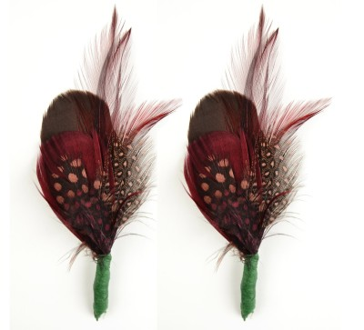 Move over Edith! We all can rock a cloche with a Marsala feather in it!