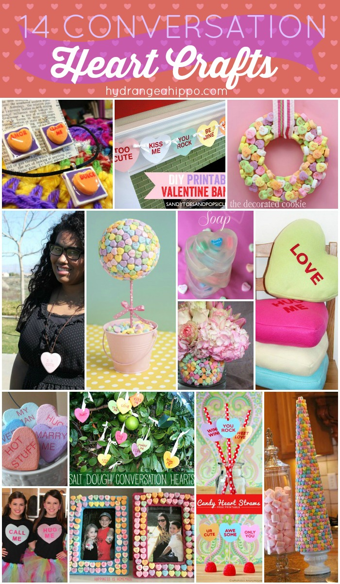 14 Conversation Heart Crafts - COLLAGE