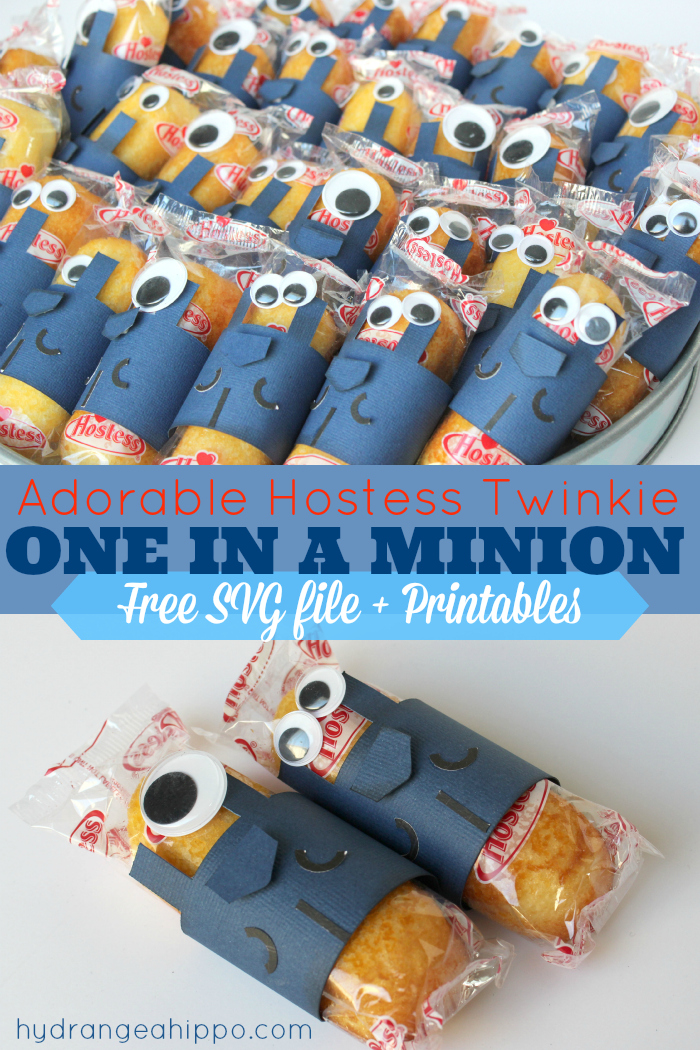 Make These Adroable Minion Party Favors For Valentines With Twinkies And An  Electronic Diecutting System.
