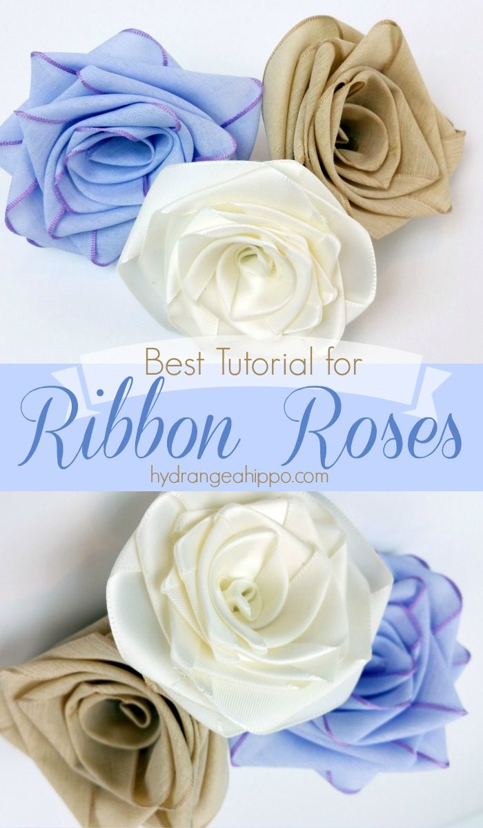 How to make ribbon roses using ANY ribbon - looks best with satin and cotton ribbon. Never buy flowers again - just MAKE your own!!