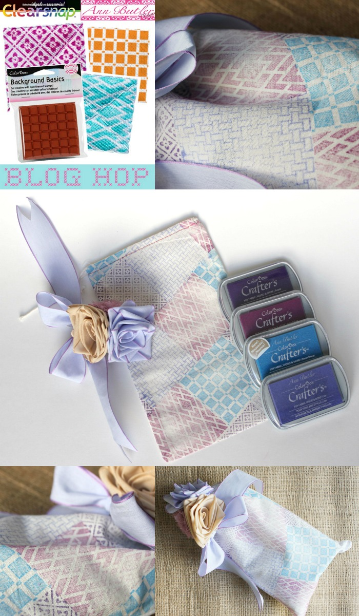 Follow the Clearsnap team and Ann Butler team on a blog hop showcasing faux quilting with stamps and ColorBox Crafter's Ink!