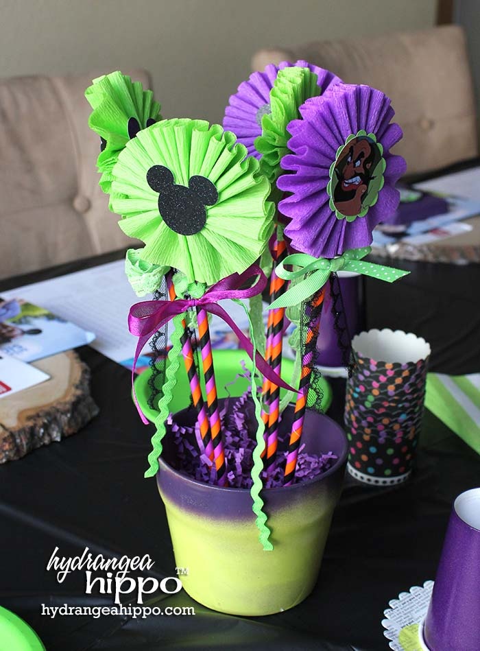 Disney Villains Centerpieces for a Mad Tea Party - Using Styrofoam Balls - by Jennifer Priest