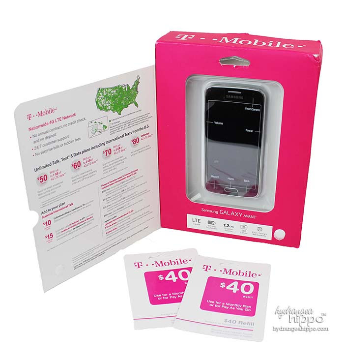 Everything you need to get started with the TMobile Simply Prepaid plan: a plan phone + $40 refill card per month