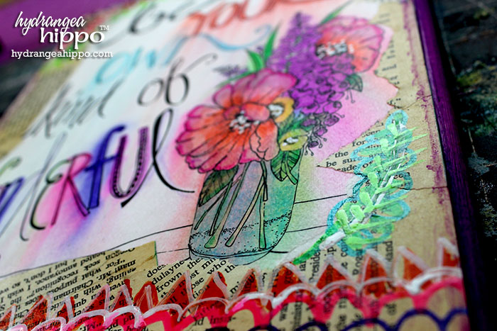 Create this look with ADORNit Art Play printables, Tombow Markers, water, and Elmer's Painters Markers.