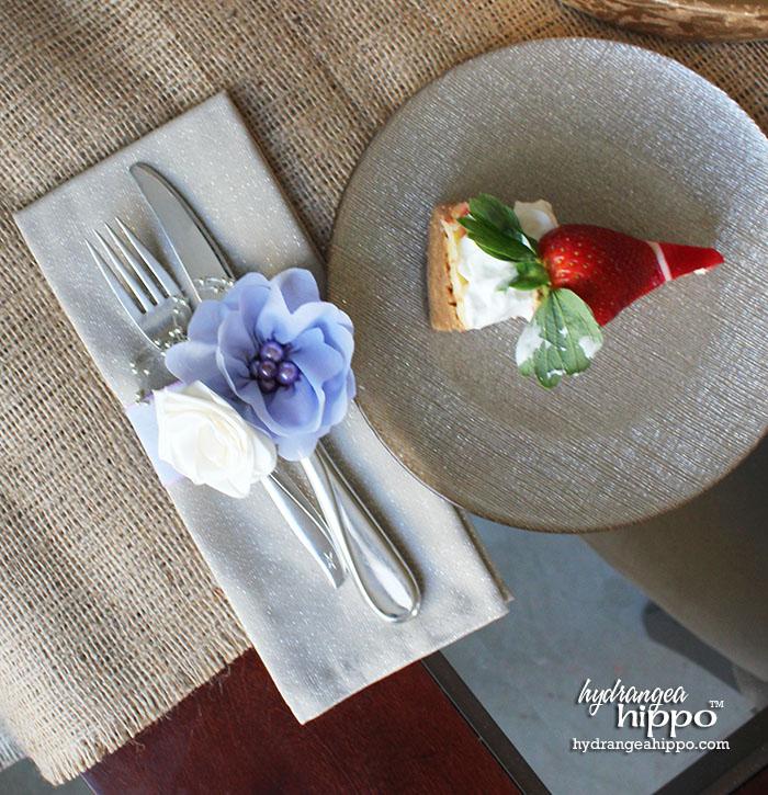 Pretty Place Settings - A Napkin Ring Alternative - Hydrangea Hippo ...