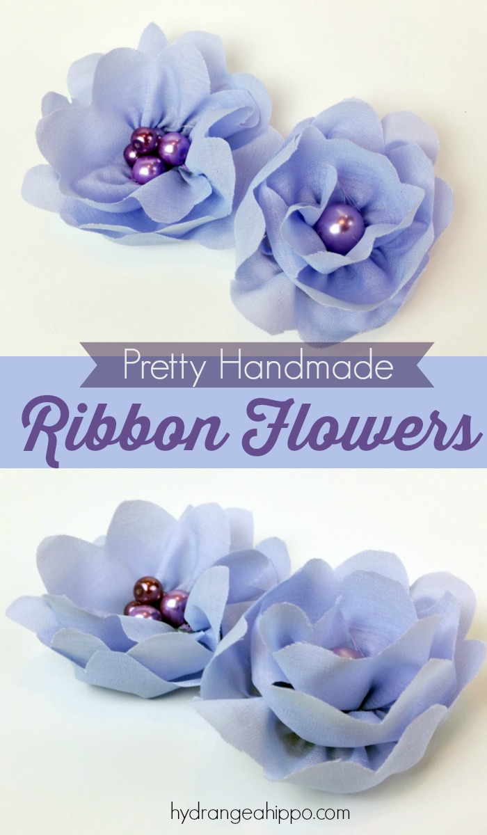 How to make pretty handmade ribbon flowers - it's so easy!