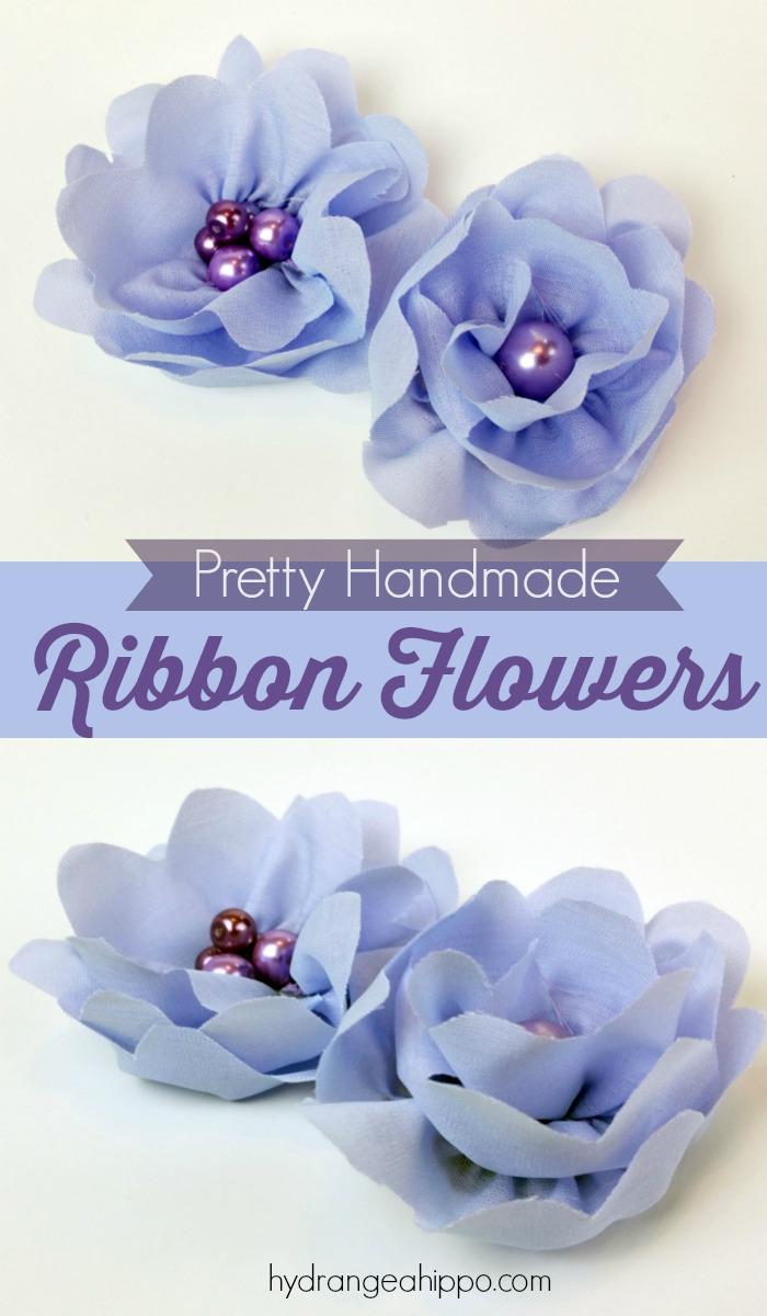 How To Make Pretty Handmade Ribbon Flowers It's So Easy!