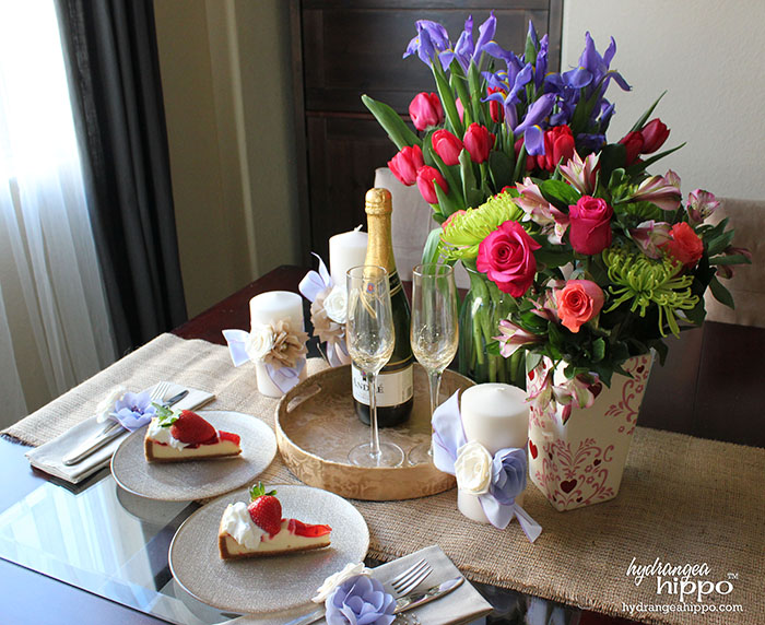 Romantic After Dinner Dessert and Champagne VIgnette with ProFlowersby Jennifer Priest