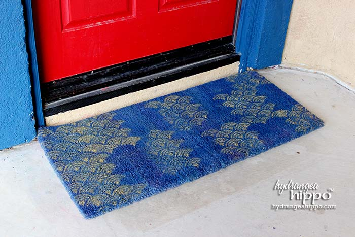 Pattern Stencils Work Great For Spray Painting On Uneven Surfaces Like This Door  Mat. I