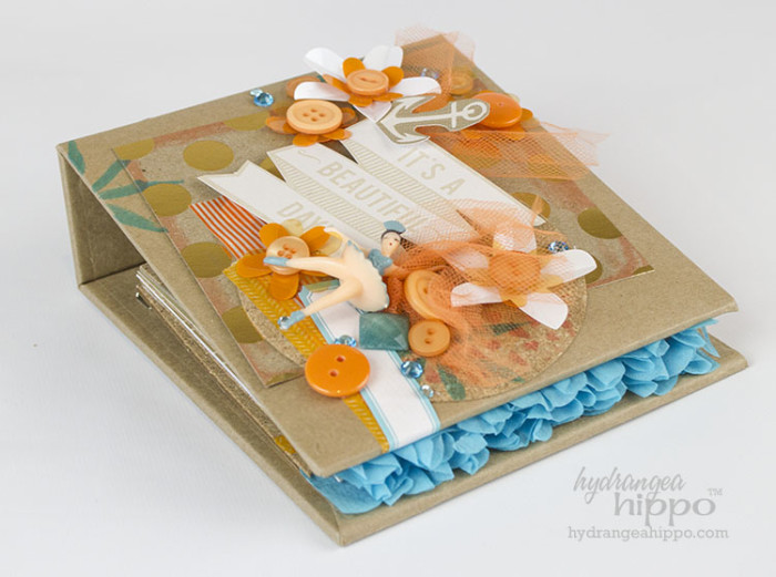 Add Crepe Paper Ruffles to the Edges of Mini Album Pages - JPriest