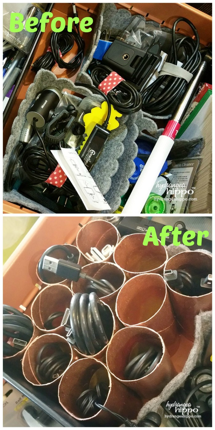 Before and After Cord Organizer JPriest