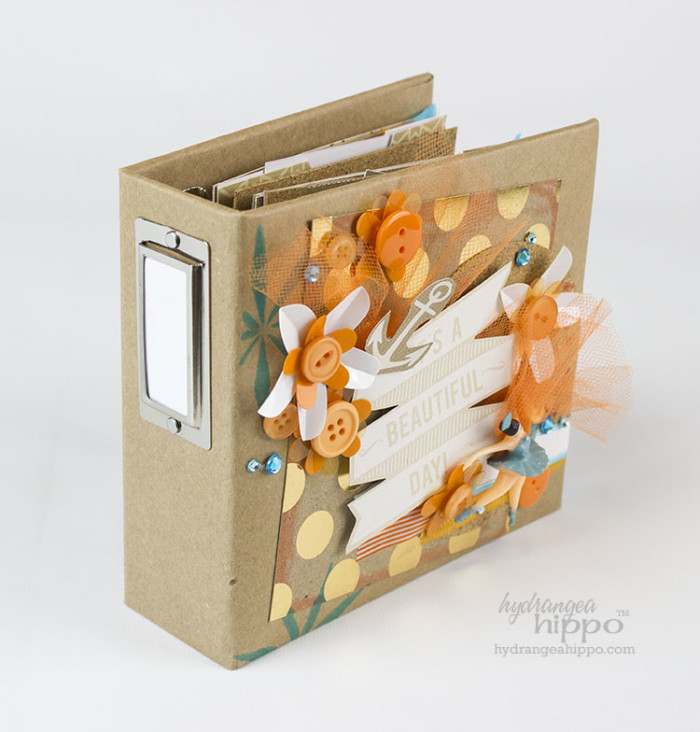 Decorate Mini Album Covers with Bulky Embellishments - JPriest