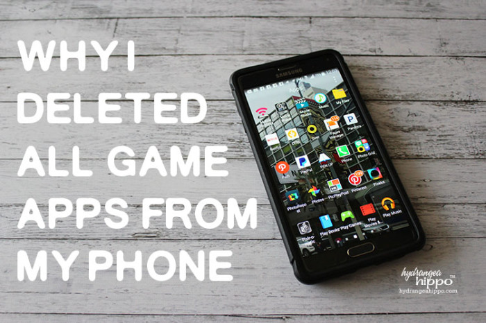 Delete Games From Phone - JPriest