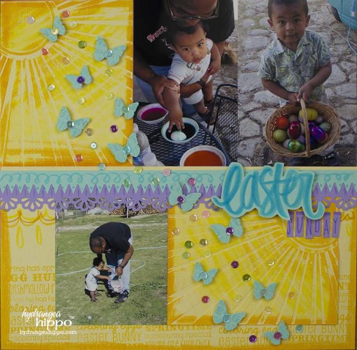 Easter Scrapbook Page JPriest
