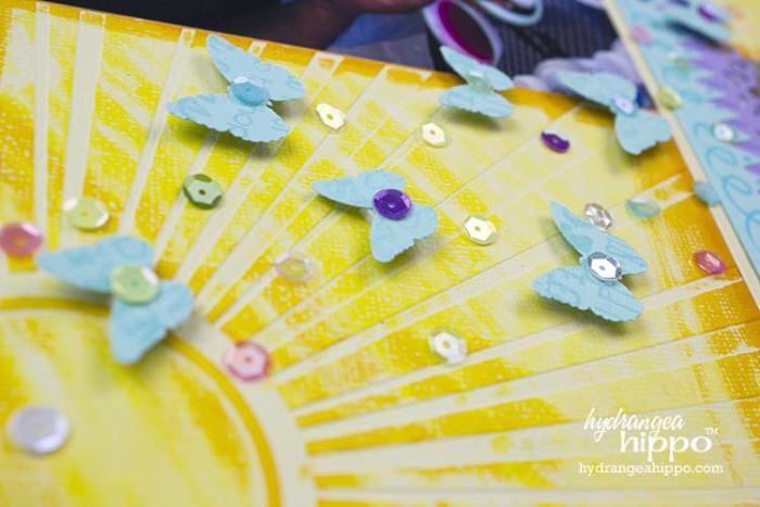 Easter Scrapbook Page Sequin Butterflies JPriest