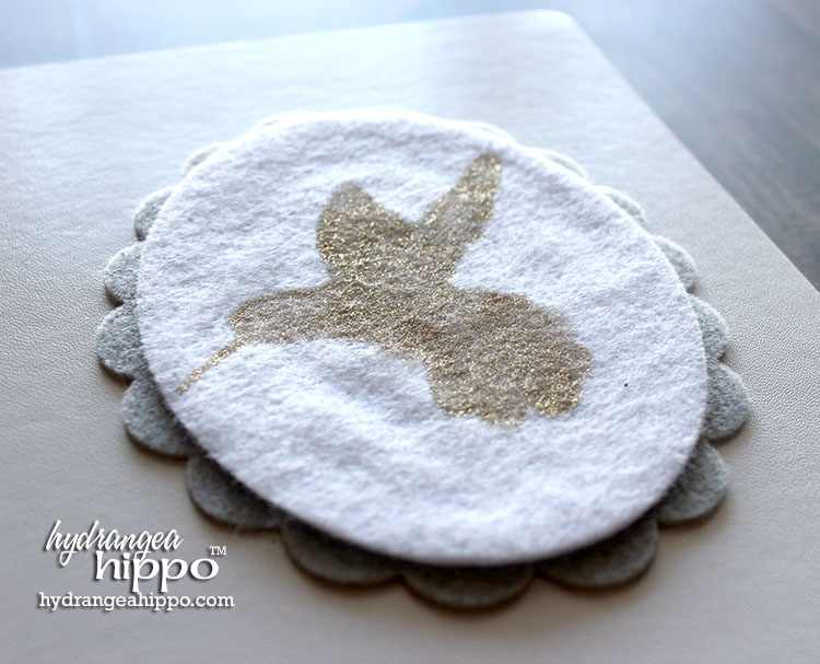How to add foil to felt fabric using glue, stencils, and foil.