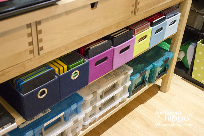 Craft Room Tour 2015 - Smart Fun DIY. Sizzix die storage - These art bins/compartment boxes are translucent making craft supplies easy to see and organize!