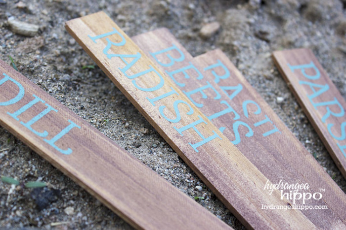 Diy garden markers how to upcycle paint stir sticks for Markers for wood crafts